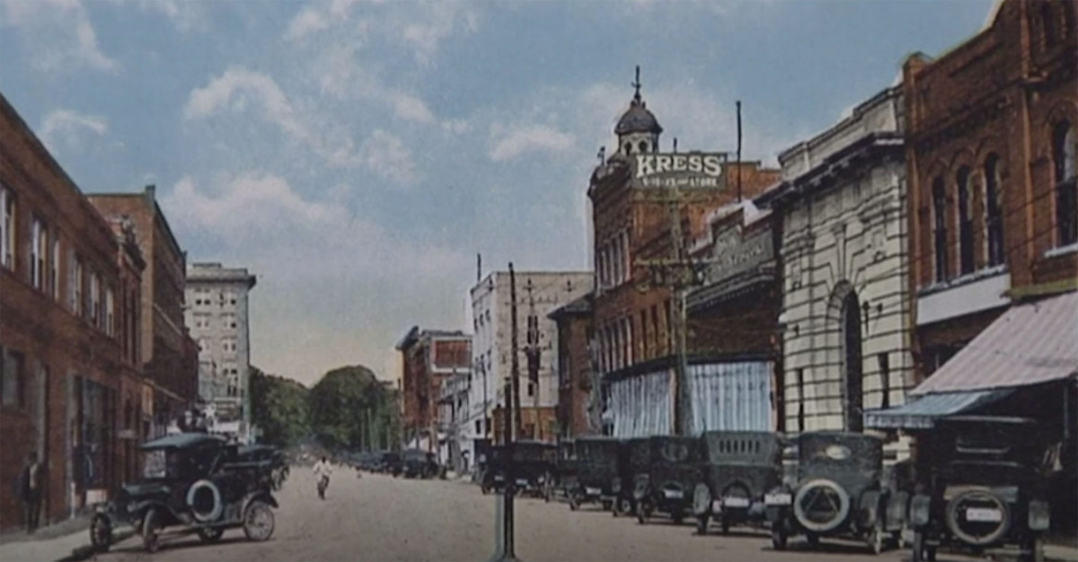 Small town in early 20th century
