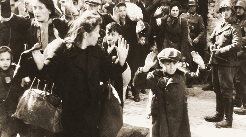 Polish Jews captured by Germans during the suppression of the Warsaw Ghetto Uprising.