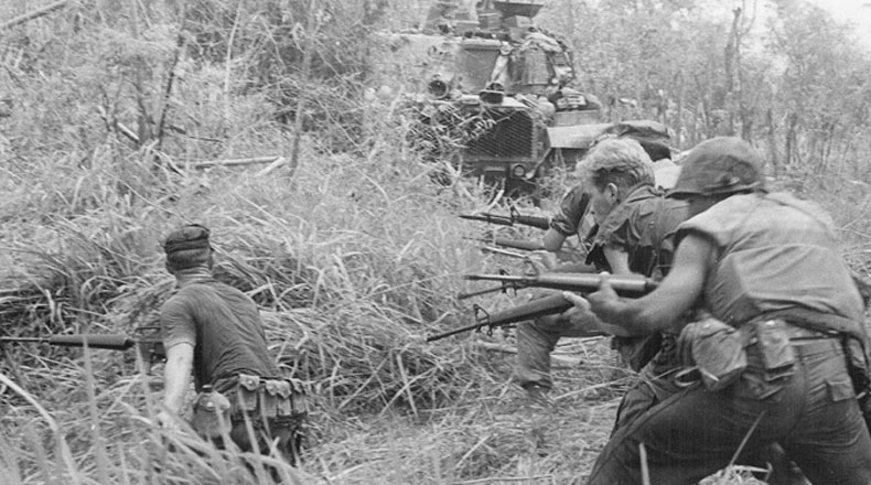 U.S. Marines in Operation Allen Brook in 1968